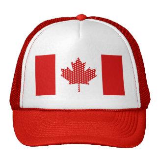 Cute Polka Dot Maple Leaf Canada Flag Tees, Gifts Trucker Hats