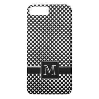 Cute Polka Dot Pattern and Monogram iPhone 8 Plus/7 Plus Case