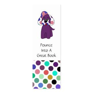 Cute Polka Dot Puppy Dog Bookmark Business Card
