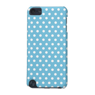 Cute Polka Dots | Aqua Blue and White iPod Touch (5th Generation) Case