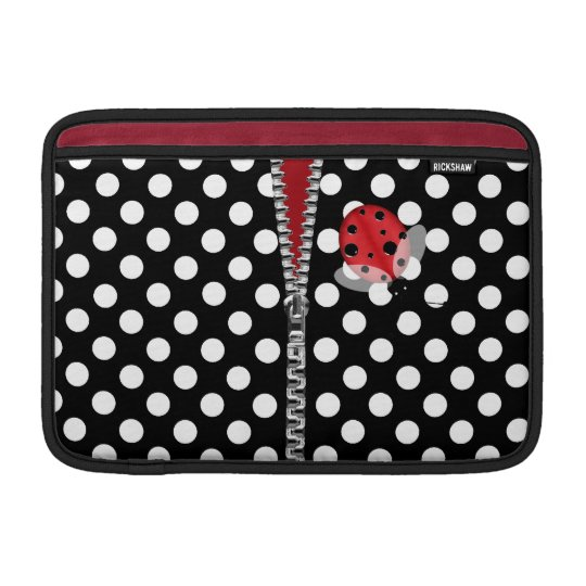 Cute Polka Dots & Ladybug Macbook Air Sleeve