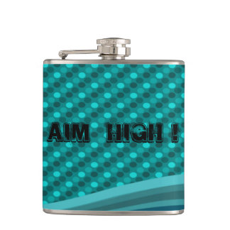 Cute Polka Dots Pattern-Motivational message Hip Flask