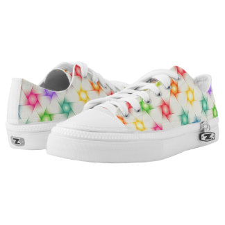 Cute Polygon Pattern Printed Shoes