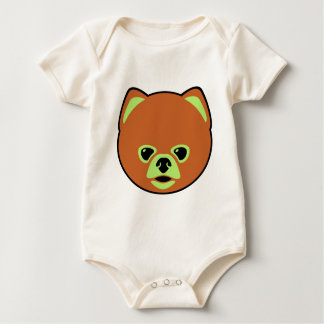 Cute Pomeranian Dog Baby Bodysuit