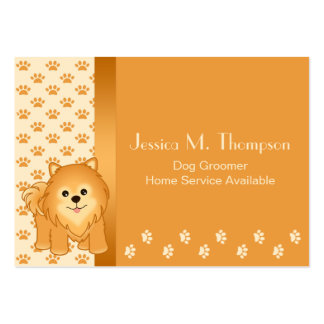Cute Pomeranian Puppy Dog Pet Services Pack Of Chubby Business Cards