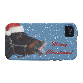 Cute Pony Christmas iPhone 4 Case