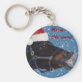 Cute Pony Christmas Key Ring