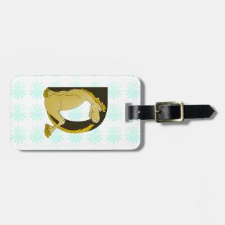 Cute Pony Monogram D Luggage Tag