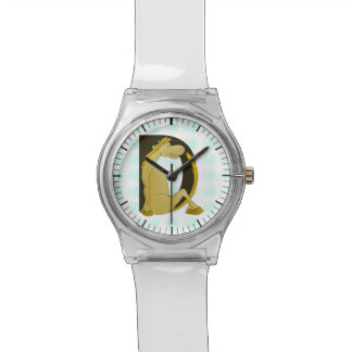 Cute Pony Monogram D Wrist Watches