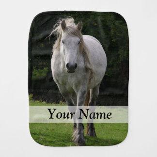 Cute pony photograph burp cloth