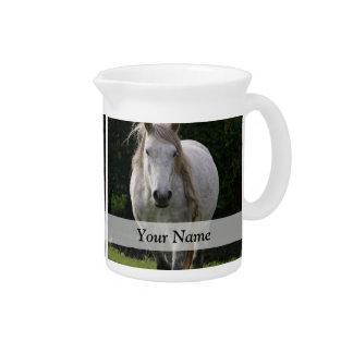 Cute pony photograph pitcher
