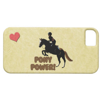 Cute Pony Power Equestrian iPhone 5 Cases