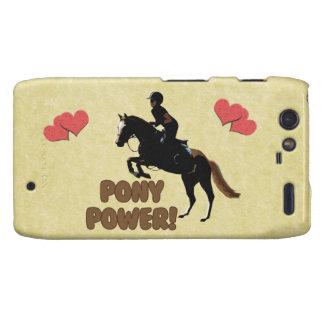 Cute Pony Power Equestrian Motorola Droid RAZR Covers