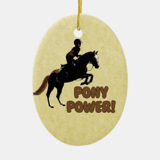 Cute Pony Power Equestrian Christmas Ornament