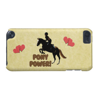Cute Pony Power Equestrian iPod Case iPod Touch (5th Generation) Cases