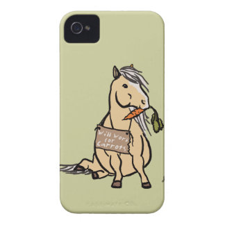Cute Pony Will Work For Carrots iPhone 4 Cover