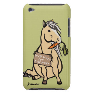 Cute Pony Will Work For Carrots iPod Touch Cases