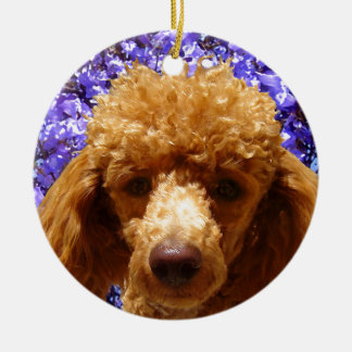 Cute Poodle Christmas Ornament