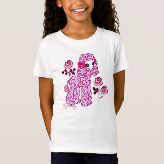 Cute Poodle Pink T-Shirt