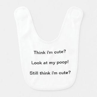 Cute Poop Baby Bib