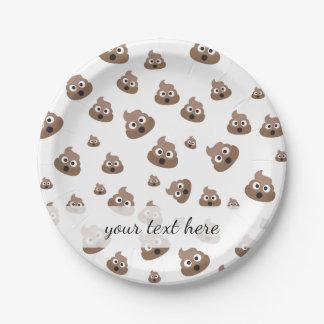 Cute Poop Emoji Pattern 7 Inch Paper Plate