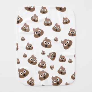 Cute Poop Emoji Pattern Burp Cloth