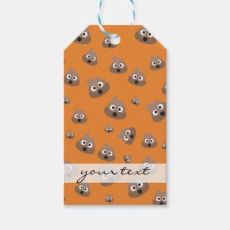 Cute Poop Emoji Pattern Gift Tags