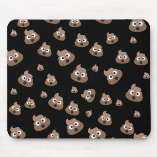 Cute Poop Emoji Pattern Mouse Mat