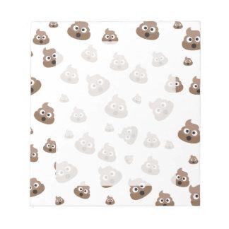 Cute Poop Emoji Pattern Notepad
