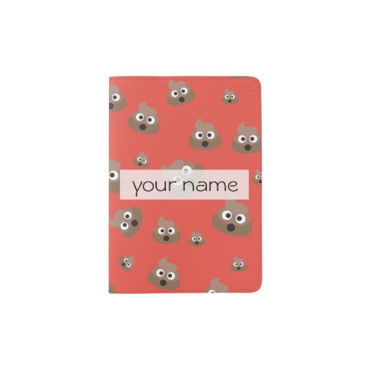 Cute Poop Emoji Pattern Passport Holder