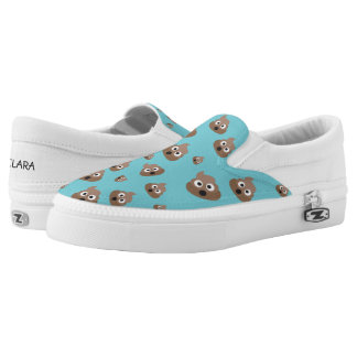 Cute Poop Emoji Pattern Slip On Shoes
