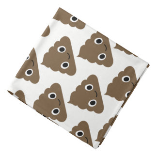 Cute Poop Pattern - Adorable Piles of Doo Doo Bandana
