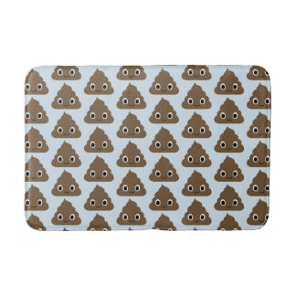 Cute Poop Pattern - Adorable Piles of Doo Doo Bath Mat