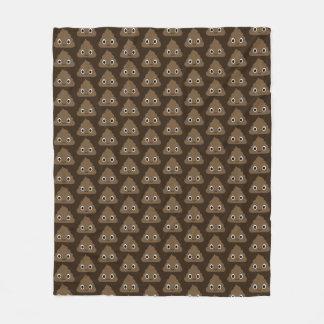 Cute Poop Pattern - Adorable Piles of Doo Doo Fleece Blanket