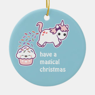 Cute Pooping Unicorn Christmas Ornament