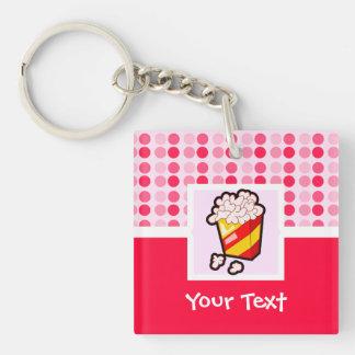 Cute Popcorn Square Acrylic Key Chains