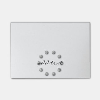 Cute Post It Silver Dots Style Post-it Notes
