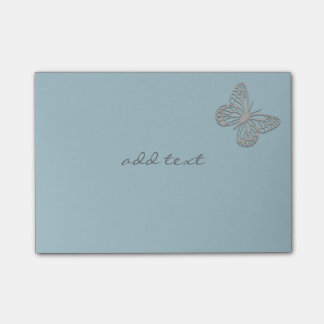 Cute Post It With Cute Silver Butterfly Post-it® Notes