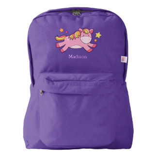 Cute Prancing Pony Personalized Backpack