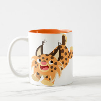 Cute Prankish Cartoon Bobcat Mug