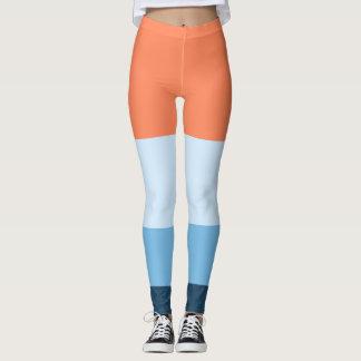 Cute, pretty colour panel leggings