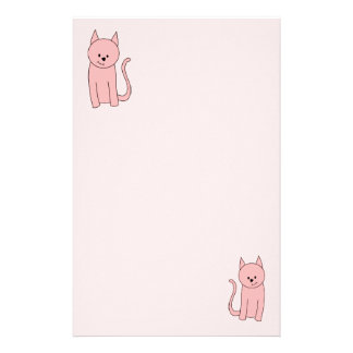 Cute Pretty Pink Cat Customised Stationery