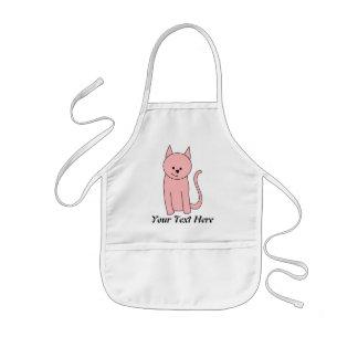 Cute Pretty Pink Cat Kids Apron