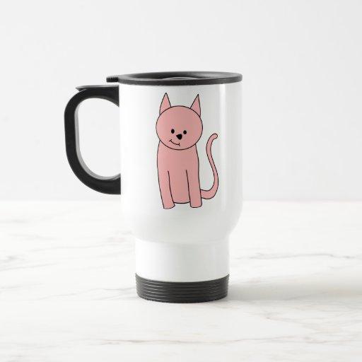 Cute Pretty Pink Cat Coffee Mugs