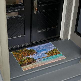 Cute Pretty Summer Hawaiian Beach Watercolor Doormat