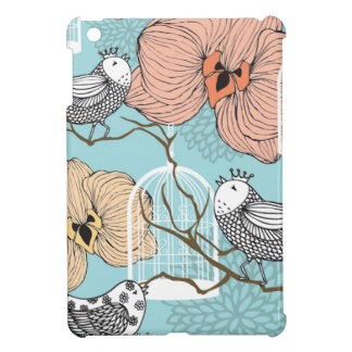 Cute Pretty Vintage Floral Birds & Birdcages iPad Mini Case