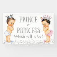 Cute Prince Princess Gender Reveal Baby Shower