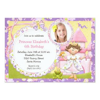 "Cute Princess Birthday Party Invitation 5"" X 7"" Invitation Card"