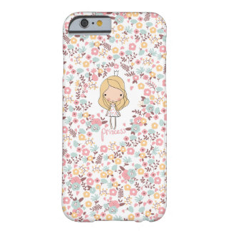 Cute Princess Floral Pattern Girly iPhone 6 Case