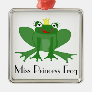 Cute Princess Frog Christmas Ornament